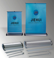 table roll up banner stand/mini desk rol lup