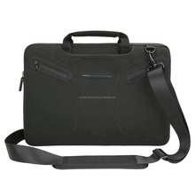 Black 15 - 15.6 inch Laptop Neoprene Case with Handle and Carrying Strap Bag