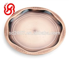 Bronze Round Stainless Steel Serving Food Tray