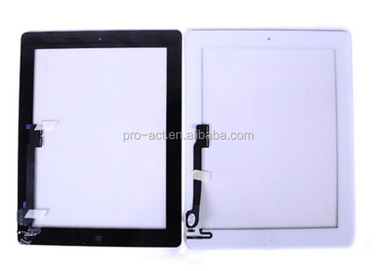 New White Front Outer Screen Glass Lens Cover Replace For iPad 2/3/4 Repair part