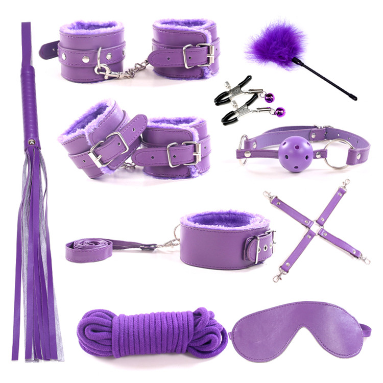 cosplay set leather bondage series under the bed restraint system set 10pcs