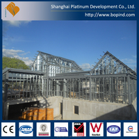 Modern design of light steel frames villa with prefab villa in factory