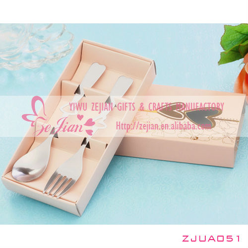 Perfect Pair Coffee Spoons and fork in gift Box for Wedding Kitchen Tableware Sets Favors & Gifts