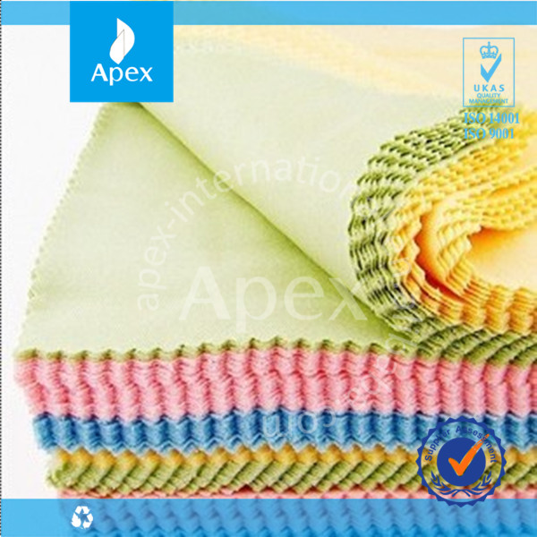 High color fastness microfiber lens cloth eyeglass cleaning