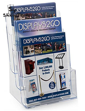 Good quality clear acrylic document / flyer / pamphlet display holder