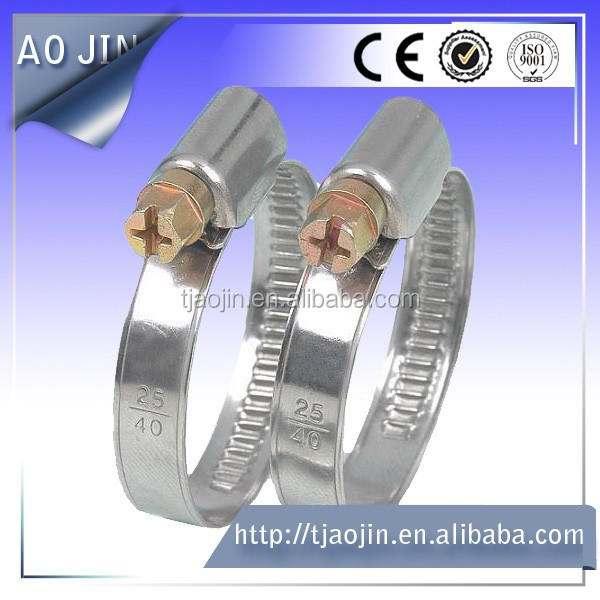 German style auto worm gear hose clamp
