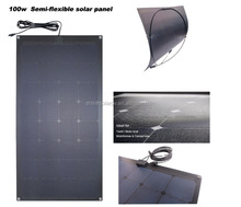 12V 18V 24V 80W 100W 120W 180W Top Quality Bendable ETFE High Efficiency Sunpower Cell Semi Flexible Solar Panel