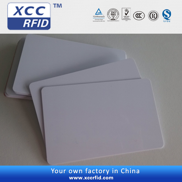 Plastic blank card Credit card size in pvc material