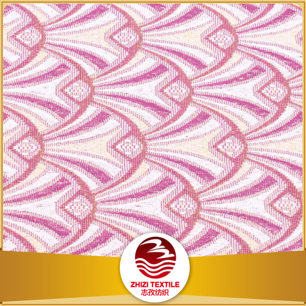 Zhejiang 70 polyester 30 cotton pink color home textile jacquard fabric stock lot