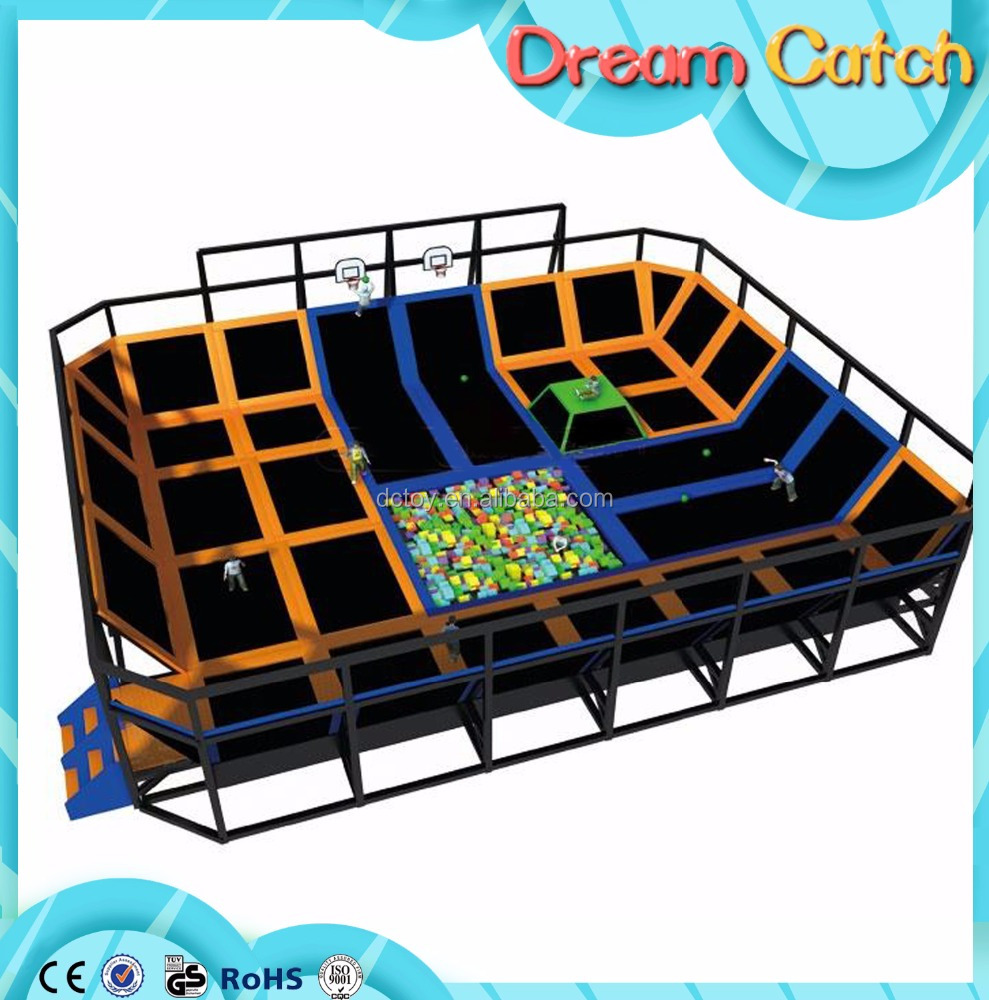 Used commercial indoor kids trampoline for sale/trampoline parks