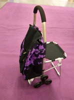 2014 foldable trolley shopping bag with seat