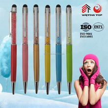 wholesale christmas decoration beautiful crystal stylus pen
