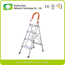 Yoler Household Aluminum Alloy 4 step Folding Ladder with Handrail