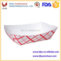 China disposable wholesale paper French Fries food boat trays