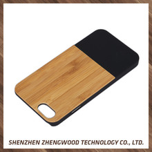 Fashionable wood back cover phone case felt case for iphone