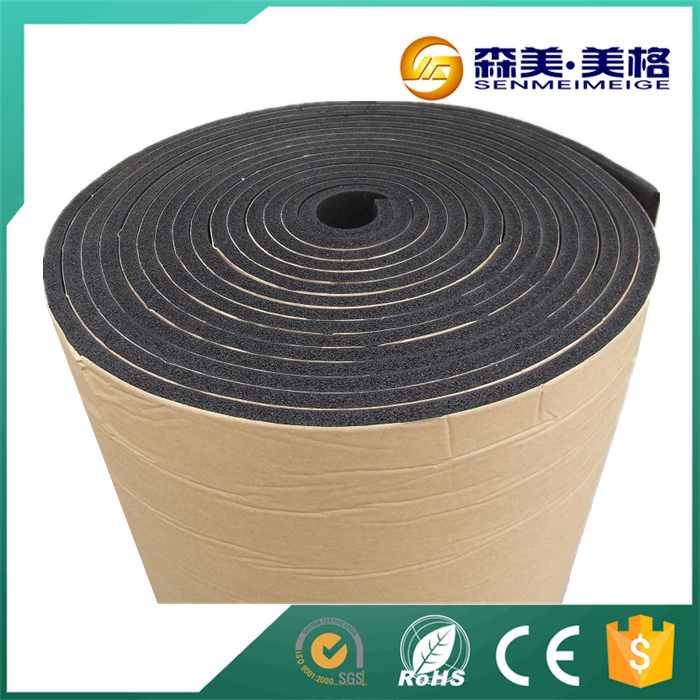 Roof insulation 15mm closed cell adhesive rubber foam sheet