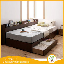 Simply modern design cheaper price low height single bed