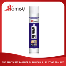 Homey 30 good fixing bonding use pu foam for fills up the seams