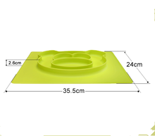 Baby Feeding Mat Toddlers Kids Plate Food Serving Plate Food Divider Plate