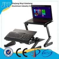Folding adjustable and portable laptop desk with double cooling fans