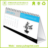 China henan direct factory printing service,colorful offset paper desk calendar