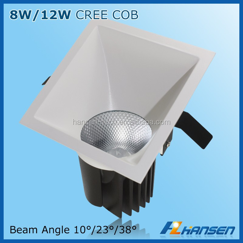 Special design c ree cob 12w flat led ceiling light car spot light 120 degree led lens