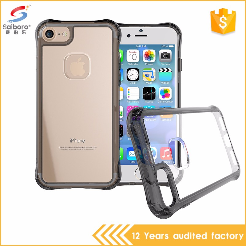 Factory direct supply air cushion clear back cover case for iphone 5 6 6plus 7 7plus,for samsung s8 s8 plus case