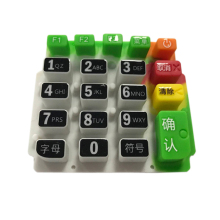 Professional Custom design mini silicone rubber membrane switch numeric digital keypad