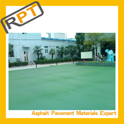 Hot mix colored asphalt for colored pavement construction