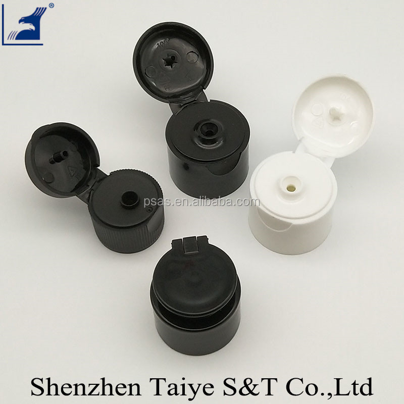Plastic Flip Top Cap and Crown Cap for Cosmetic Bottles