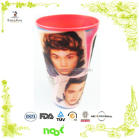 change 3D lenticular drinking cup