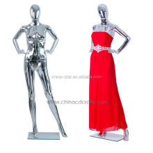 fashion plastic chroming Full body female models