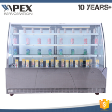 APEX bakery glass pastry display cabinet showcases with three bearing layers