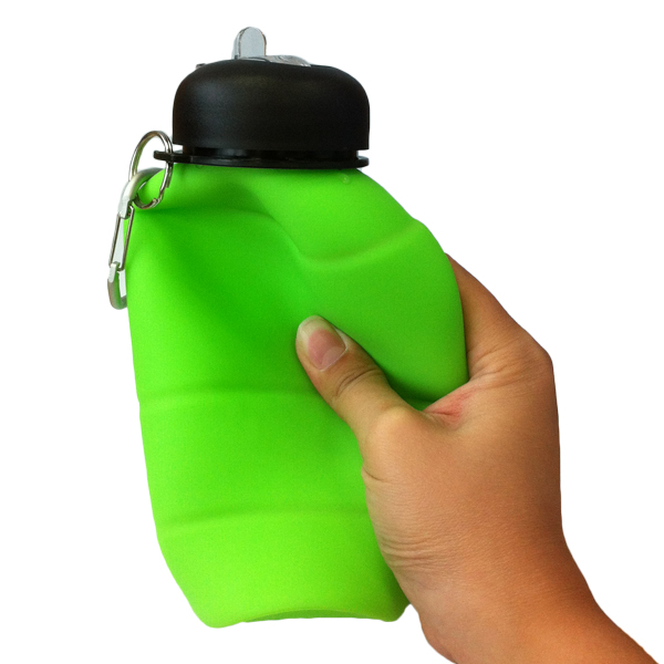 camping running silicon collapsable custom drink bottle sport