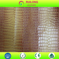 PVC synthetic leather imitation crocodile leather for shoes bags waterproof embossed leather