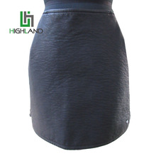 2017Newest Design Black PU Viscose Leather Skirt For Winter Sexy Famale Zipper Skirt/Slim Wrap Skirt
