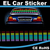 New Equalizer Sound Active EL Car Sticker Made in China