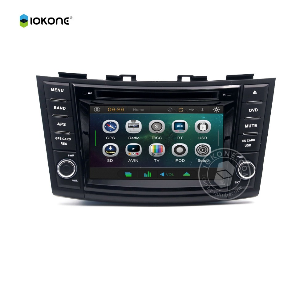 Car Accessories Wince Car DVD Player Car Radio TV DVD GPS for SUZUKI SWIFT Multimidia Headrest