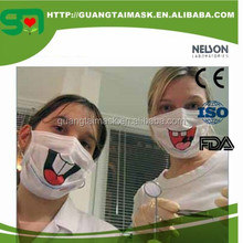 Nonwoven Printed Funny mask Disposable Medical Mask