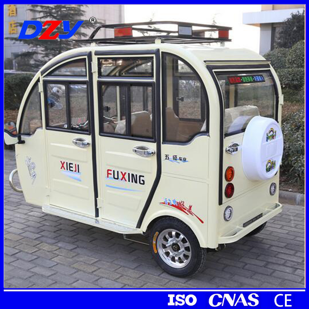 China 3 wheel motor tricycle tandem for adults big wheel tricycle