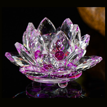 Elegant colorful wedding decoration K9 optics crystal beautiful souvenirs crystal lotus