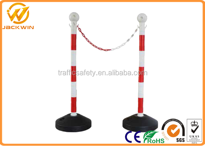90cm Road PVC Traffic Delineator Bollard Post with Plastic Chain
