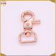 Zinc Alloy Rose Gold Triggle Snap Hook for Handbags with D Ring Size Custom