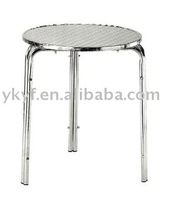 Stainless foldable aluminum bar table