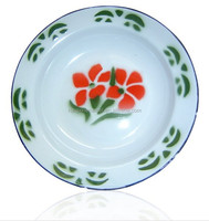 enamel dinner plate soup plate plain color wholesale price