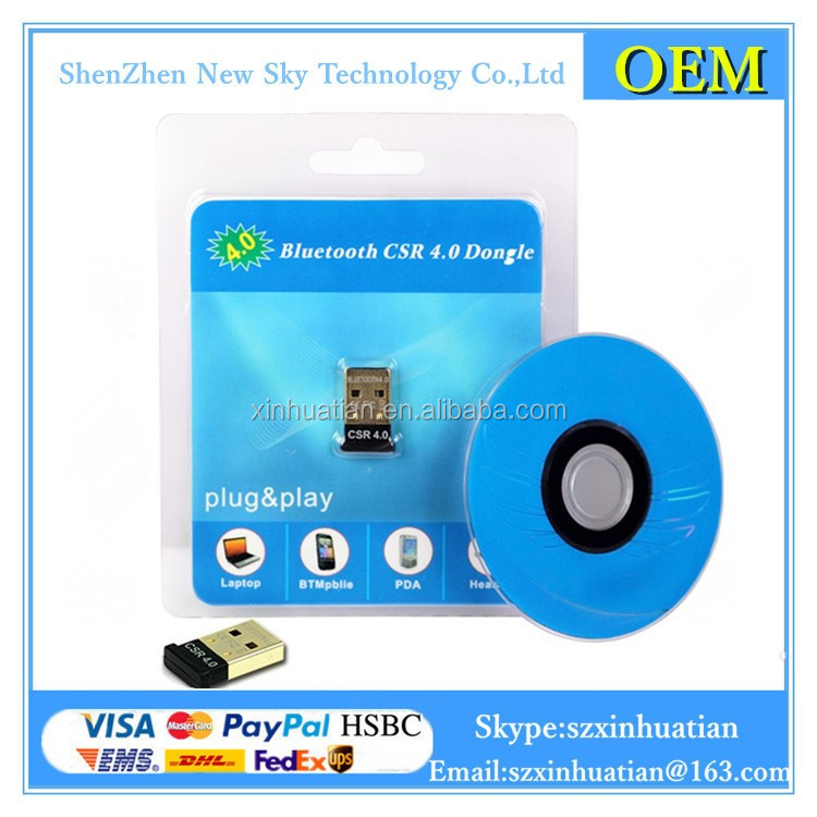 Super Mini Dual Mode USB V 4.0 Bluetooth Adapter Wireless Dongle CSR 4.0 For Win 7 / 8 / 10 / Android