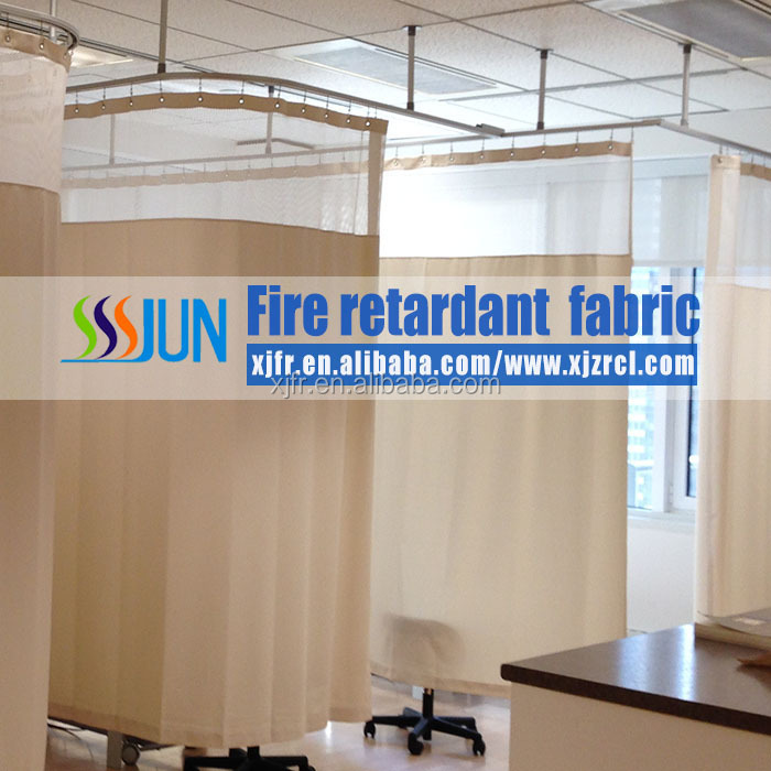 2016 new design and wholesale fire retardant medical partition curtains, cubicle curtains,disposble hospital curtain