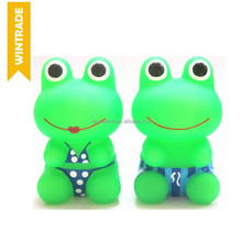 OEM rubber frog toy Swimsuit Bath Frog