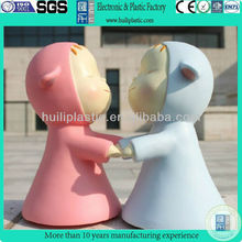 Cute plastic Toy Coin Piggy Kiddy Money Bank,custom plastic kid money bank