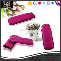 Dongguan Factory PU Leather Color Leather wood cigar holder